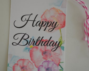 Happy Birthday Gift Tags - The Floral Collection Gift Tags
