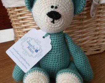 Teddy Bear / Baby Shower Gift / New Baby Gift / Green Bear