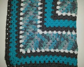 Crocheted Lapghan/Baby Blanket/Wheelchair Blanket Granny Square