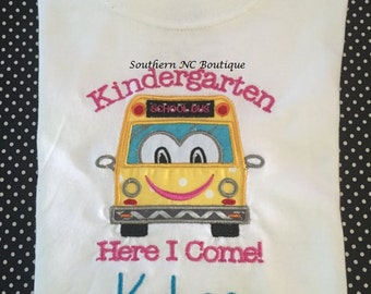 Kindergarten Here I Come Shirt