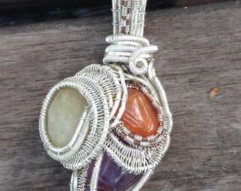 Wire Wrap Gemstone Pendant