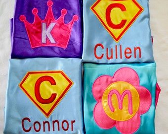Customized Kids Superhero Capes,Personalized embroidered Kids Capes,Children Capes with name-You pick fabric,thread,design !