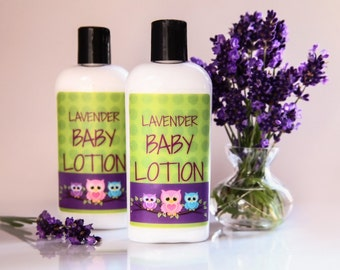 Organic Lavender Baby Lotion//baby lotion//lavender lotion//lotion for baby//baby//bath//bath and body//bath time//babies lotion//handmade