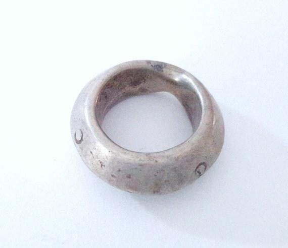 antique silver wedding ring tribal by bazarjawahar