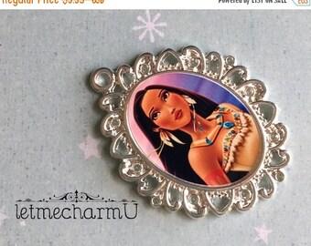 Back to School Sale Disney Princess Pocahontas Pendant - Pocahontas Pendant - Disney Princess Pocahontas Necklace - Pocahontas Jewelry