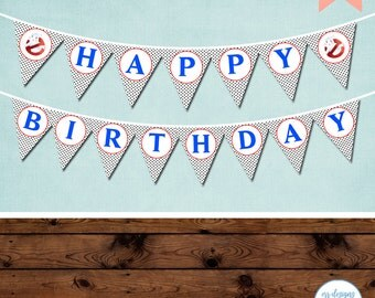 Ghostbusters Birthday Banner, Ghostbusters Birthday Party, Girl Ghostbusters