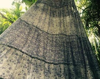 Vintage indian gauze sheer 70s dress