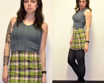 LAST CHANCE!! Vintage Plaid Skirt