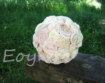 Vintage bridal bouquet, ivory bouquet