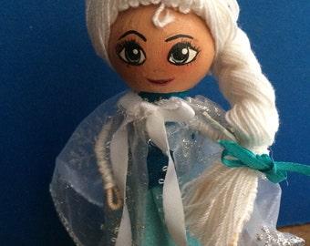 "Princess ""Elsa"" Clothespin Doll"
