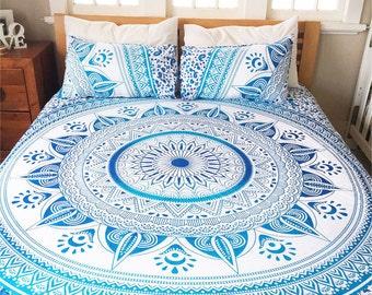 AEM 004  Omba Mandala Bedspread 3 pcs. Queen size