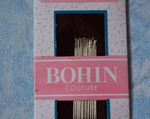 Bohin, couture, crewel embroidery needles, Size 10. 15 needles per card.