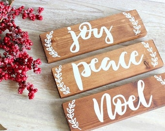 Christmas Wood Sign Joy Christmas Sign Rustic Christmas