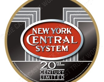 New York Central Railroad Logo Wood Plaque / Sign