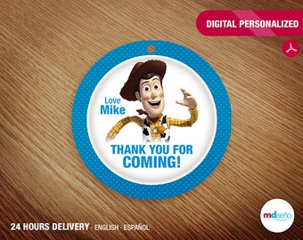Toy Story PRINTABLE Favor Tag Thank You For Coming! Toy Story Party
