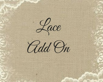 Lace Add On - Please Do Not Purchase Without a Romper