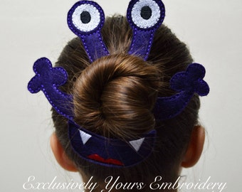 Monster Bun Pal Hair Accessory - Hair Pin - Bobby Pin - Hair Decoration - Sports - Clip - Hair Clip - Seasonal - Barrette