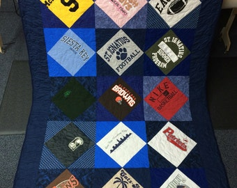 Custom Handmade T-Shirt Quilt - Pick your size  BEAUTIFUL!!