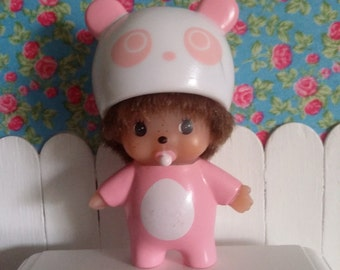 Monchhichi pink panda for Blythe and Dolls