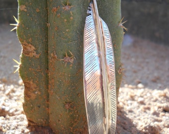 Crow feather, Handmade, Crow medicine, Sterling silver