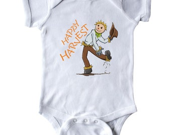 Happy Harvest Scarecrow Infant Creeper by Inktastic