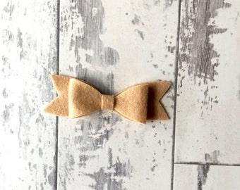 Salted Caramel felt bow