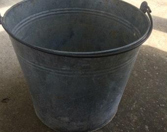 A #14 galvanized 10 inch bucket