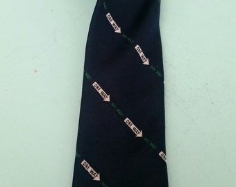 Vintage One Way My Way Tie Alynn Neckwear Free Shipping