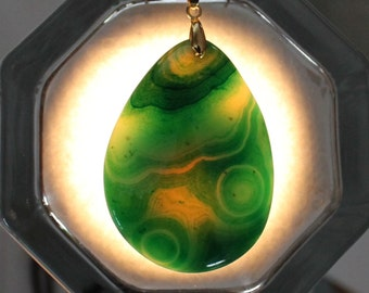 Onyx Agate Pendant - Green and Powerful as the Irish Spring.