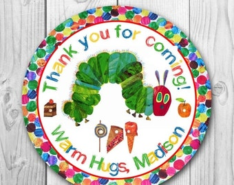 ON SALE 35% Very Hungry Caterpillar Labels - Very Hungry Caterpillar Tags - Very Hungry Caterpillar Stickers - Very Hungry Caterpillar Party