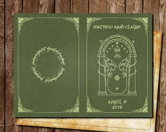 Lord of the ring wedding Invitation (sample)