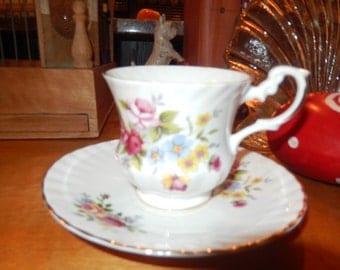 ENGLAND ROYAL DOVER Teacup and Saucer Set