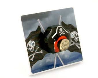Pirate Bedroom Light Switch - Pirate Gift For Boys - Pirate Bedroom Decor - Decorative Light Switch - Pirate Bedroom - Pirate Bedroom Light