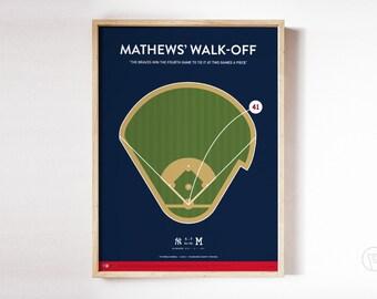Braves Eddie Mathews Walk-Off Print
