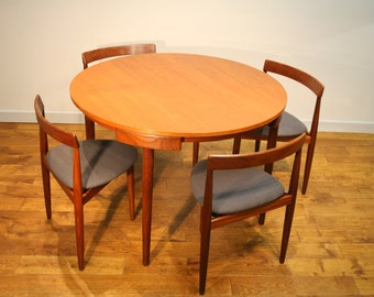 Frem Rojle Dining Table and Four Chairs