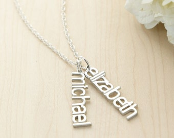 Mother's Day, Grandmother, Personalized Jewelry, Modern Name Necklace