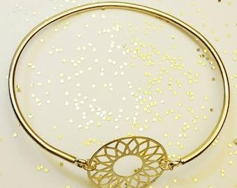 FIONA gold Bangle Bracelet