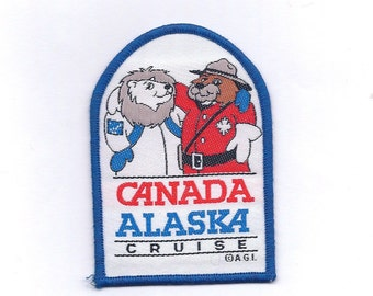 Vintage Canada Alaska Cruise Patch