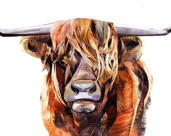 Highland Cow Giclee Print