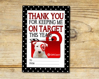 Keeping Me On Target, Thank You, Gift Card Holder, Printable, Instant Download, Teacher Appreciation, End of School Gift