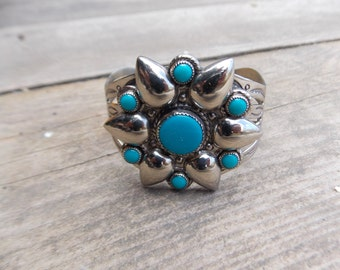Vintage Boho Cuff Bracelet / Southwestern