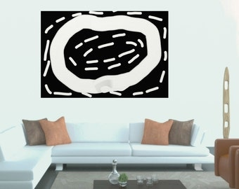 Abstract Black and White, Minimalist Painting, Modern Art Painting, Contemporary wall Art, Oversized contemporary Abstract Painting CANVAS