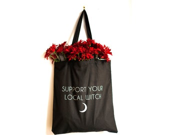 Support Your Local Witch Tote Bag