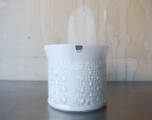 Stunning Vintage Olle Alberius For Orrefors Sweden - Vintage Orrefors Sweden White Bubble Vase - White Cased Glass Vase - Designer Glass