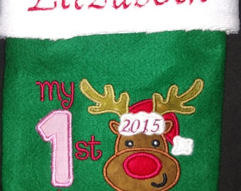 My First Christmas Stocking -Personalized  - NEW for 2015