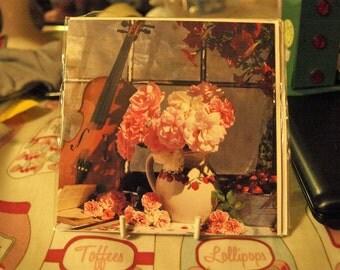 Violin and Roses Card