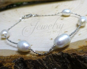 Genuine Pearl Bracelet Set