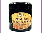 Organic Skin Care, Wild Oats & Honey Face Mask (All Natural Skin Care) Anti-Aging|Great Face Cleanser, Exfoliator, Moisturizer