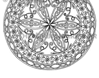 COLORING BOOK Mandala Dreaming hand drawn art therapy