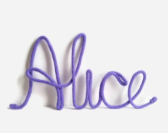 5 Letter Name, Wire Word Art, Name Art Nursery, Name Decor, Nursery Wall Art, Baby Girl Nursery, Personalized Baby Gifts, Baby Shower Gift